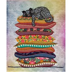 Hand Embroidery Kit Cat Decorative stitch Needlepoint Needlework Stitching DIY Instructions in Russian Modern Cross Stitch, Cross Stitch Kits, Cross Stitch Patterns, Hand Embroidery Kits, Beaded Embroidery, Ballon Diy, Needlepoint, Needlework, Stitching