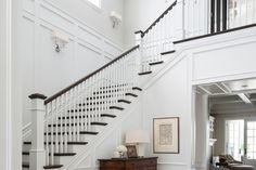 Making an Entrance - Design Chic Design Chic Foyer Staircase, Staircase Design, Interior Decorating, Interior Design, Decorating Ideas, Decor Ideas, Diy Ideas, Coastal Living Rooms, Entrance Design