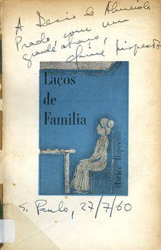 Capa da primeira edição do livro de contos Laços de família (Rio de Janeiro: Francisco Alves, 1960).