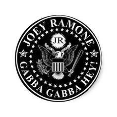 """Joey Ramone """"Gabba Gabba Hey!"""" Sticker"""
