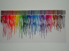 I jumped on the bandwagon and made my own melted crayon art. Instructions: Hot glue crayons onto a canvas. Blow dry until melted. Easy peasy lemon squeezy.  OMMMMG AWESOME