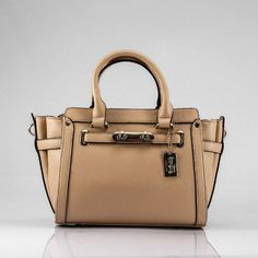 """Coach Swagger Madison Apricot Satchels 14""""(L) * 6.2""""(W) * 10.1""""(H)"""