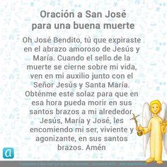 Algunas oraciones a San José que tal vez no conocías. Catholic, Faith, Quotes, Angeles, Decor, God Made Me, Holy Spirit Prayer, Christian Families, Quotations