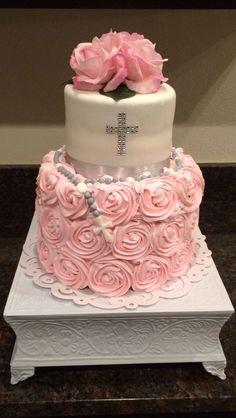 Babtism cake for girl: More