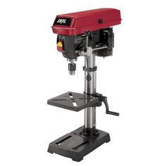 Skil 10 in. Drill Press with Laser. Drill Press with Laser - Cast Iron Base and Work Table. Table Size in x in. Spindle Speed Range (RPM) 570 - 0 - 45 degree tilting work surface for precise and accurate drilling. Making A Bench, Speed Drills, Thing 1, Drill Press, Work Lights, Tool Storage, Power Tools, Hand Tools, Diy Tools