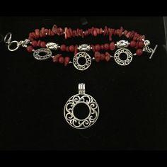 PREMIER DESIGNS - Firecracker/ Annette set Firecracker bracelet and Annette necklace pendant Premier Designs  Jewelry Bracelets