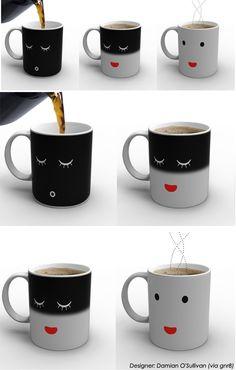 커피주면 잠깨는 깜찍 머그컵 (translation if anybody can find this cup buy it for Jaye)