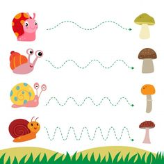 Animal Worksheets, Tracing Worksheets, Preschool Worksheets, Preschool Activities, 4 Year Old Activities, Autumn Activities For Kids, Adjectives For Kids, Handwriting Activities, Kids Vector