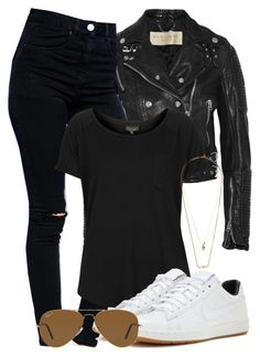 """""""Sem título #1980"""" by rebeca-styles ❤ liked on Polyvore featuring Burberry, ASOS, Topshop, Zimmermann, NIKE and Ray-Ban"""