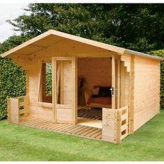 Mercia - Sarah 19mm Log Cabin - 3.4x3.3m from Homebase.co.uk