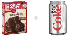 -- Devil's Food Cake Mix + Diet Coke = Sinless Devil's Food Cake - Do note: If you're the type who refuses to eat cake without frosting, please, by all means, add frosting. Cupcakes, Cupcake Cakes, Bundt Cakes, Food Cakes, Cake Mix Recipes, Dessert Recipes, Cake Mixes, Frosting Recipes, Coca Light