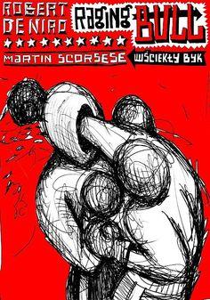 Raging Bull, Scorsese, Polish Poster - Zebrowski