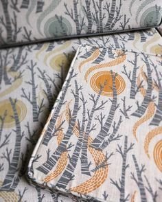 Angie Lewin's 'Birch Tree Sun' fabric for St Jude's