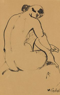 Female Nude (1916) by Willy Jaeckel