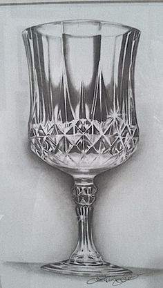 How to draw a crystal goblet, by Lee Hammond. ^ch #drawing #crystal