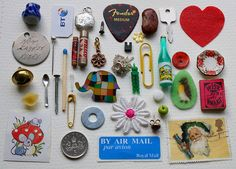 """from the """"International Championship League of Matchbox Stuffers."""" I definitely need to find some matchboxes and make my own collections! Christmas Card Hanger, Championship League, Elmer The Elephants, Fuzzy Felt, Collections Of Objects, Matchbox Art, Arts And Crafts, Diy Crafts, Clay Beads"""