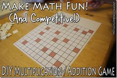 Multiplication and Addition Math Game and Template