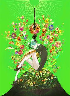 「冬の墓標に手向けの春を」/「みちょ」のイラスト [pixiv]