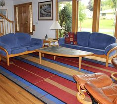 Handwoven rugs and wall hangings by Kelly Marshall in Arts & Crafts designs. Buy now, or work with the designer on a custom order.