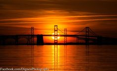 A view of the Bay Bridge from Terrapin Park. Photo by: Mark Dignen. Photo of the Week: http://cbf.typepad.com/chesapeake_bay_foundation/2013/05/photo-of-the-week-terrapin-park-sunset.html