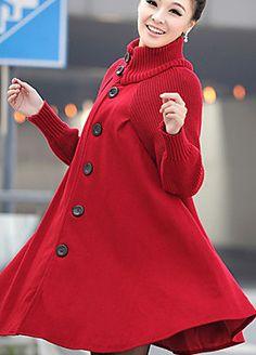 Woolen Cloth Cloak Dust Trench Coat