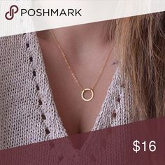 Circle pendant simple everyday necklace Brand new with tags✨as seen on picture✨material: alloy✨ length: 40cm approximately ✨color: gold✨everyday wear necklace✨expect fast shipping  Any questions feel free to ask check out my other listings✨ 15% off on bundles buy more  save more  Jewelry Necklaces