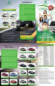 Leaflet Ad Service provided by Adall Advertising to the Better Car in UAE.
