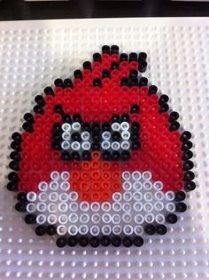 Red Angry Bird in Pyssla
