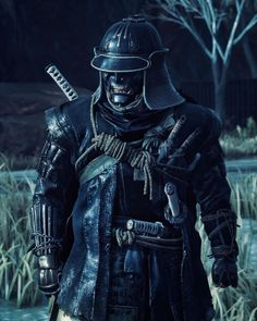 Ghost Of Tsushima, Samurai Art, Fantasy Armor, Future Tattoos, Traditional Dresses, Playstation, Warriors, Ninja, Short Hair
