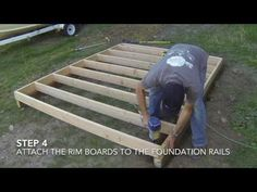 If retailers video series - how to build a shed How To Build A Shed - Part 2 Floor Framing