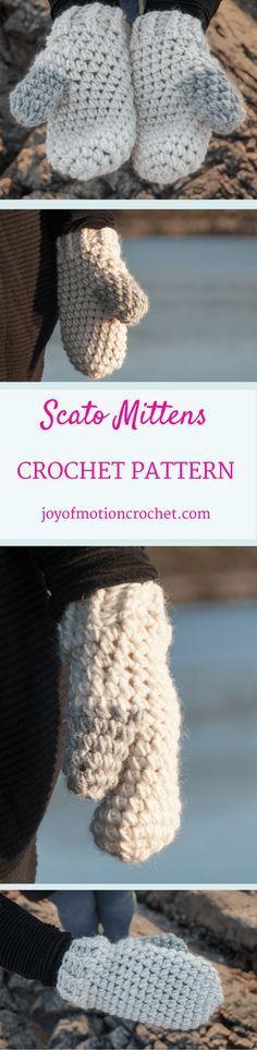 Scato Mittens Croche
