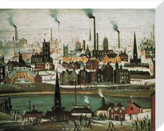Laurence Stephen Lowry - Industrial Landscape: The canal Industrial Artwork, Industrial Paintings, English Artists, Art Uk, Naive Art, Your Paintings, Artist Painting, Landscape Art, Lovers Art