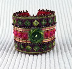 Needlepoint cuff