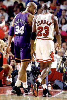 Charles Barkley (Phoenix Suns) & Michael Jordan (Chicago Bulls)