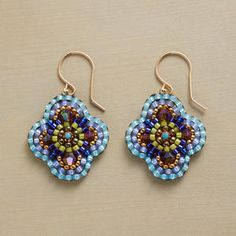 Lisa Yang's Jewelry Blog explores different brick stitch shapes.  ~ Seed Bead Tutorials