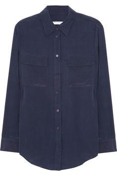 Equipment Signature washed-silk crepe de chine shirt  NET-A-PORTER.COM