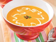 Baby Carrot Soup | Browse our 28best side dish recipes for ham, including everything from tender spring veggies to creamy risotto. Ham dinners peak in popularity around Christmas and Easter, but are delicious year-round and are a great solution for group gatherings, family dinners, and easy Sunday suppers. Pairing your ham with a delicious side rounds out the meal nicely, so decide if you're more of a chilled side dish fan or prefer a warm side dish for your meal, then get started.