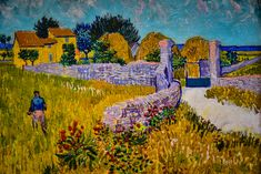 https://flic.kr/p/9onUKm | Vincent van Gogh - Farmhouse in Provence at National Art Gallery Washington DC | Vincent van Gogh - Farmhouse in Provence, 1888 Also viewed at Van Gogh Repetitions Exhibit - Phillips Collection Art Gallery Washington DC