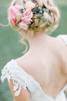 Floral Braided Updo