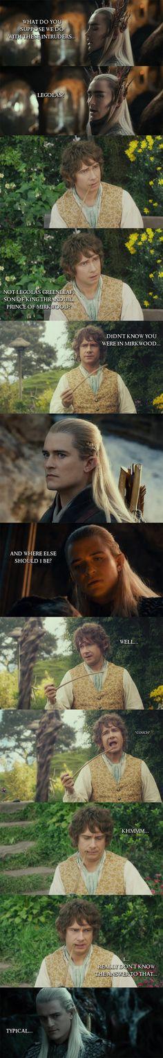 The Hobbit - Legolas vs. Bilbo by yourparodies.deviantart.com on @deviantART