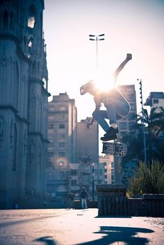 Skateboarding - the act of riding on and performing tricks with a skateboard. #skateboarding