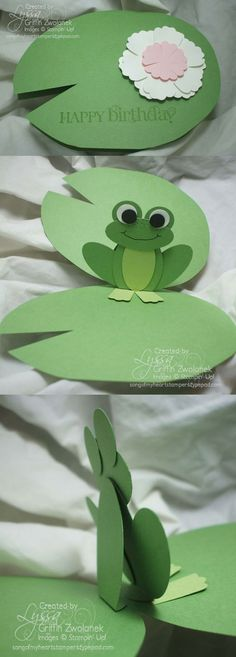 Lilypad & Pop-up Frog Card - songofmyheartstampers blog