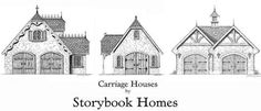 storybook home and carriage house plans - fun to look at the old fashioned details