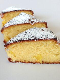 Lief-voor-de-lijn-ananascake Pineapple Cake, Piece Of Cakes, Vanilla Cake, No Bake Desserts, Tart, Sweet Tooth, Deserts, Sweets, Healthy Recipes