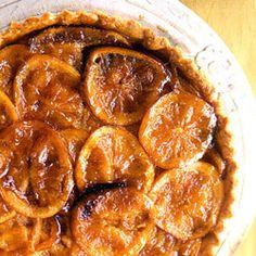 Roasted Orange Tart  To make the oranges soft and marmalade-like, we roasted them separately