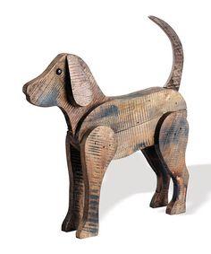 This Barnwood Dog Figurine is perfect! #zulilyfinds