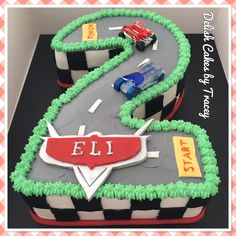 Cars number 2 Birthday cake