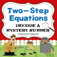 Two-Step Equations {Decode a Mystery Number Activity} $