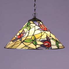 Prairie Pendant by Interiors 1900 A mackintosh rose with a modern twist on a flowing background. H:	485-1520 W:	420 D:	420 Bulbs:	1 x 60 E27 Fittings:	SU02 Shade:	T014SH40