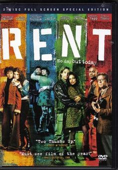RENT  (2DVD) (2005) widescreen - The film version of the Pulitzer and Tony Award winning musical about Bohemians in the East Village of New York City struggling with life, love and AIDS, starring Anthony Rapp and Adam Pascal. Rated PG-13. 135 min. DVD